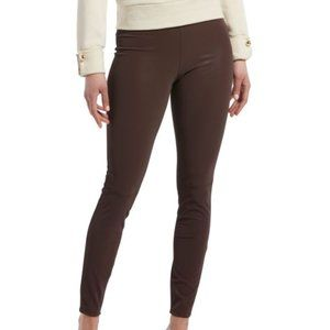 HUE® Textured Faux-Leather Leggings